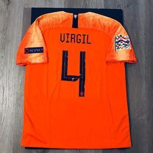 watch 8e59b c2a09 Virgil van Dijk soccer jersey Nederland Home NWT
